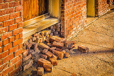 Nevada Photograph - Brick Escape by Janis Knight