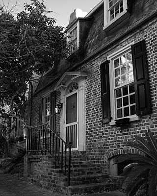 Pasta Al Dente - Brick House in Black and White by Allyson Jones
