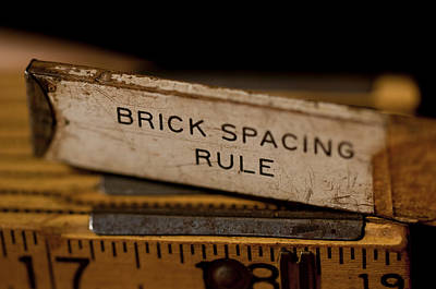 Photograph - Brick Mason's Rule by Wilma  Birdwell
