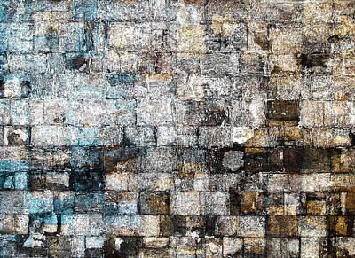 Digital Art - Brick Mosaic by Stephanie Grant