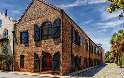 Photograph - Brick Office Building - Charleston by Frank J Benz