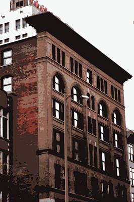 Brick Old Timey Building Original by Laurie Pike