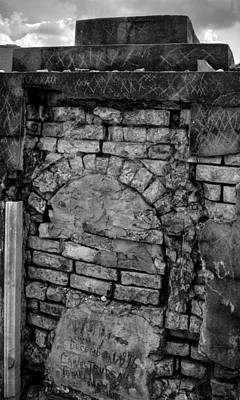 Photograph - Brick Oven Grave In Black And White by Chrystal Mimbs