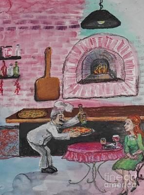 Brick Oven Pizza Art Print