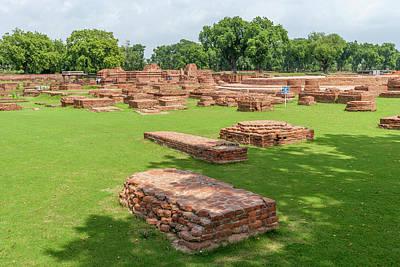 Brick Remains In Sarnath, India Art Print