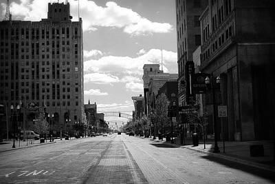 Photograph - Brick Road Black And White by Scott Hovind