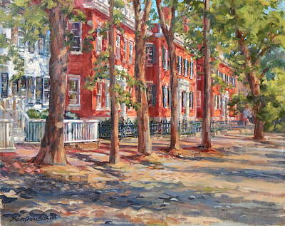 Brick Row Of Nantucket Original by Sharon Jordan Bahosh