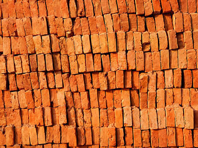 Brick Stack Art Print