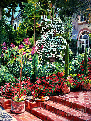 Beverly Hills Painting - Brick Steps by David Lloyd Glover