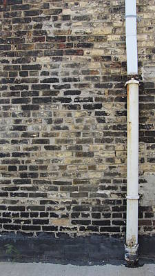 Photograph - Brick Wall And Drainpipe by Anita Burgermeister