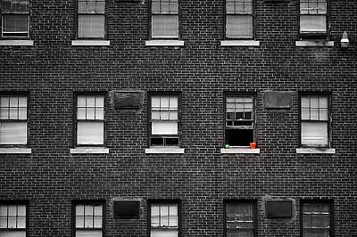 Photograph - Brick Wall And Windows by Jim Shackett