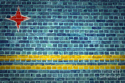 Brick Wall Aruba Art Print by Antony McAulay