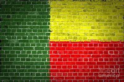 Brick Wall Benin Art Print by Antony McAulay