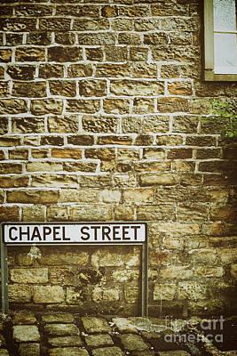 Window Signs Photograph - Brick Wall by Amanda Elwell
