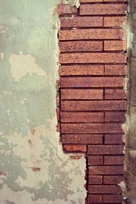 Paint Photograph - Brick Wall by Cynthia Harvey