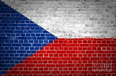 Brick Wall Czech Republic Art Print