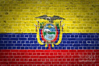 Brick Wall Ecuador Art Print by Antony McAulay