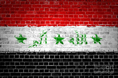 Brick Wall Iraq Art Print by Antony McAulay