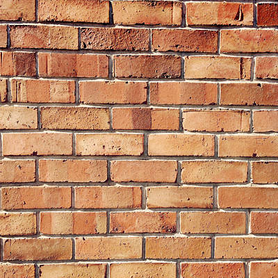 Stonewall Photograph - Brick Wall by Les Cunliffe