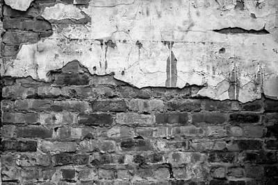 Georgia Red Clay Photograph - Brick Wall Monochrome by Georgia Fowler