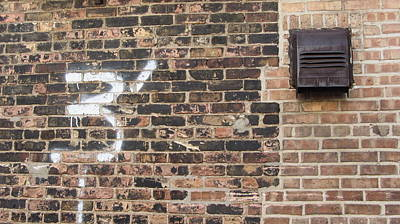 Photograph - Brick Wall Number 3 by Anita Burgermeister