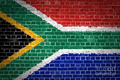 Building Exterior Digital Art - Brick Wall South Africa by Antony McAulay