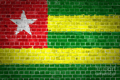 Togo Digital Art - Brick Wall Togo by Antony McAulay