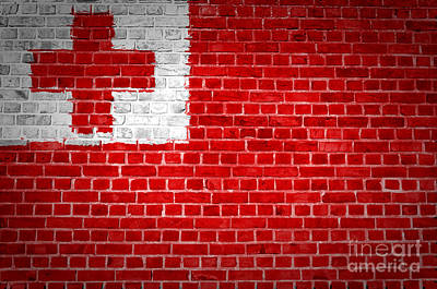 Tonga Digital Art - Brick Wall Tonga by Antony McAulay