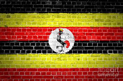 Uganda Tiles Digital Art - Brick Wall Uganda by Antony McAulay
