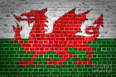 Wales Digital Art - Brick Wall Wales by Antony McAulay