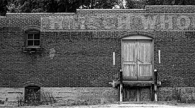 Photograph - Brick Warehouse - B And W by Wayne Meyer