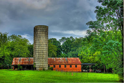 Brick Silos Photograph - Brick Work by Reid Callaway