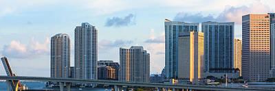 Photograph - Brickell Key And Miami Skyline by Ed Gleichman