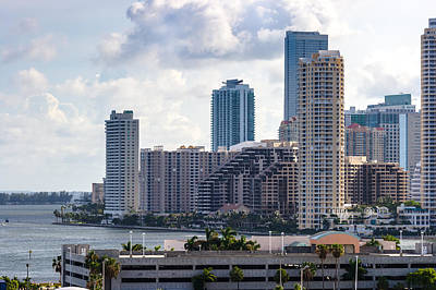 Wine Corks - Brickell Key in the Afternoon by Ed Gleichman