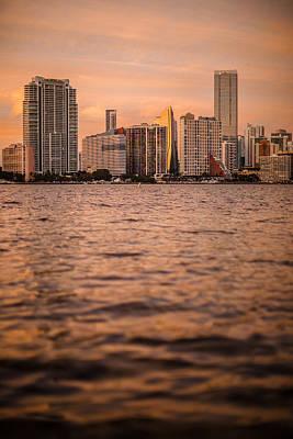 Miami Vice Photograph - Brickell Sunset by Dan Vidal