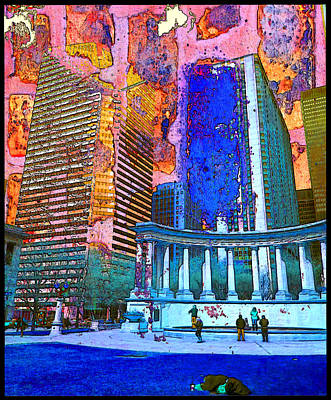 Digital Art - Bricking The City Up by Zac AlleyWalker Lowing