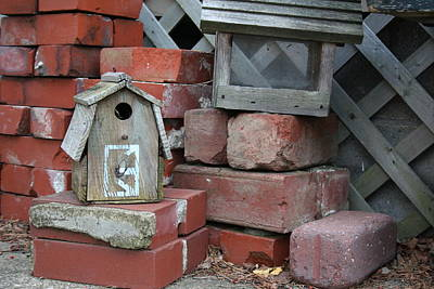 Music Figurative Potraits - Bricks and Bird Houses by Valerie Collins