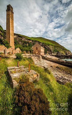 Porth Wen Photograph - Brickwork Ruins by Adrian Evans