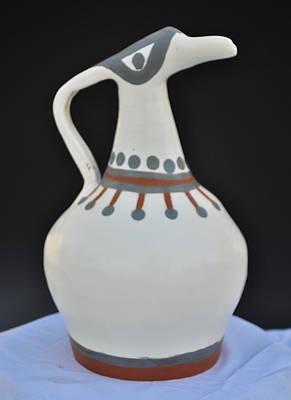 Yunomi Sculpture - Brid Vessel by Kristen R Kennedy