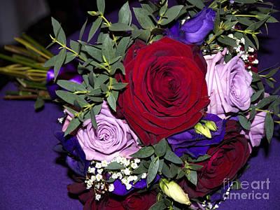 Bridal Bouquet Art Print by Gillian Singleton