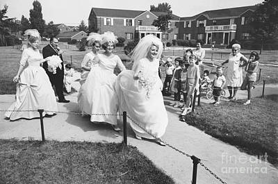 Wedding Dress Photograph - Bridal Party, 1960s by Van D. Bucher