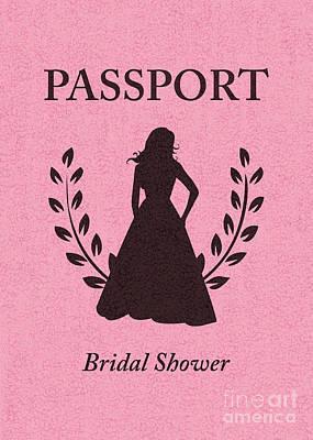 Bridal Shower Passport Invitation  Art Print