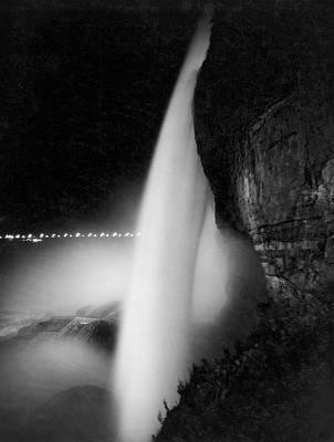 Part Of Photograph - Bridal Veil At Niagara Falls by Underwood Archives