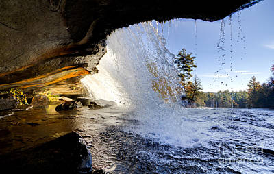 Bridal Veil Falls In Dupont State Forest Nc 2 Art Print by Dustin K Ryan