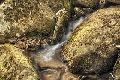 Photograph - Bridal Veil Stream And Mossy Rocks - Heber Springs Arkansas by Jason Politte