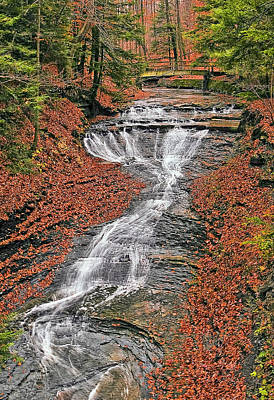 Quiet Photograph - Bridal Veil Waterfall by Marcia Colelli