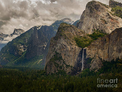Photograph - Bridalveil Falls And Yosemite Valley by Terry Garvin