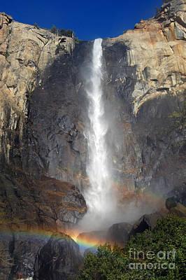 Bridalveil Falls Double Rainbow Art Print