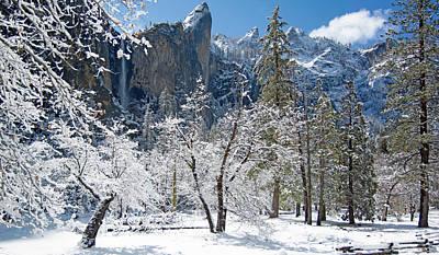 Digital Art - Bridalveil Falls - Yosemite Np by Jim Pavelle