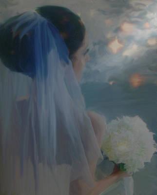 Painting - Bride  A Formal Wedding by Dennis Buckman